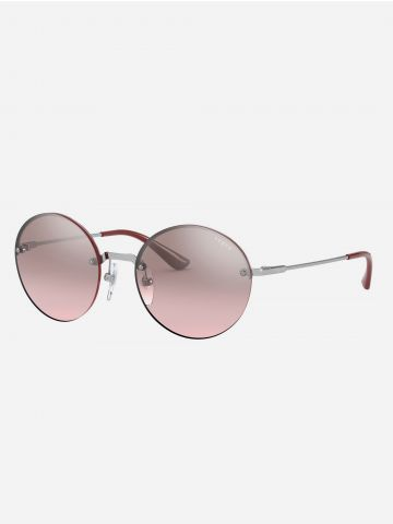 משקפי שמש עגולים עם מסגרת מתכת של vogue eyewear