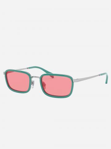משקפי שמש מלבניים צבעוניים