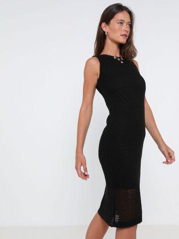 שמלת מידי בסריגה משחוררת