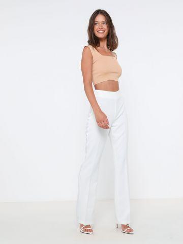 מכנסיים מתרחבים עם פס סאטן של TERMINAL X