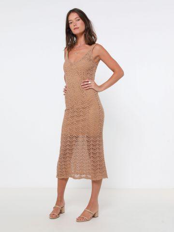 שמלת מקסי בסריגה משוחררת