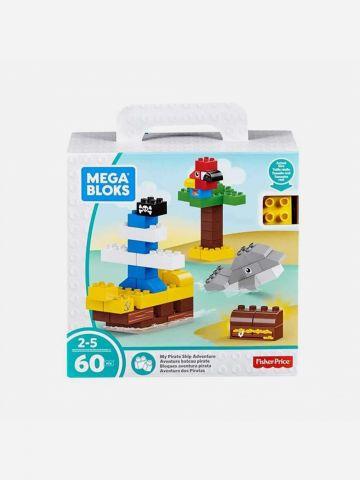 Mega Bloks מארז ספינה בים 60 חלקים / 2-5