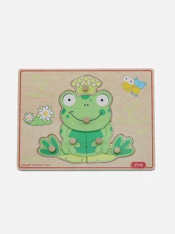 פאזל עץ צפרדע 6 חלקים / 2.5+