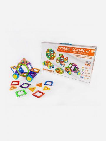 Magic World משחק מגנטים 52 חלקים / 3+