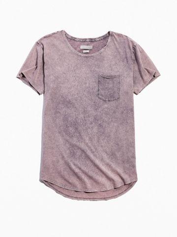 טי שירט אסיד ווש עם כיס Standard Cloth / גברים