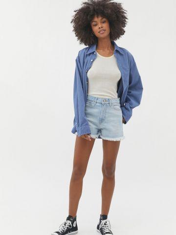 ג'ינס קצר עם סיומת פרומה BDG של URBAN OUTFITTERS