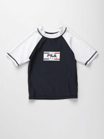 חולצת בגד ים בייסבול עם לוגו / בנים