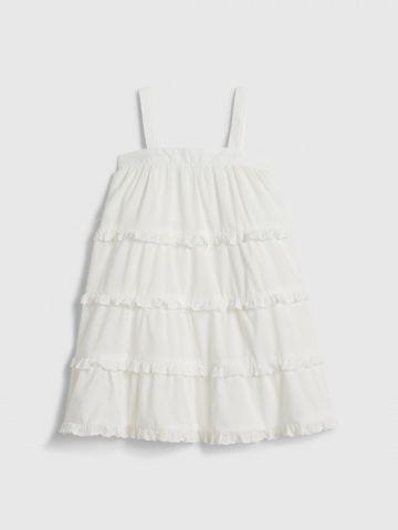 שמלת קומות עם עיטורי מלמלה / 12M-5Y