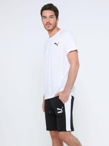 מכנסי טרנינג קצרים עם סטריפים ולוגו