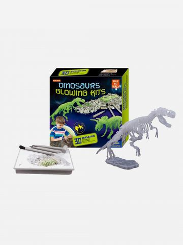Kingme Explore ערכת דינוזאורים זוהרים בחושך / 6+