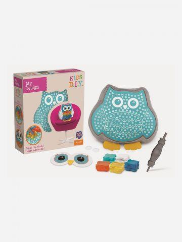 Plush Craft מוזאיקת כרית בד ינשוף / 5+ של TOYS