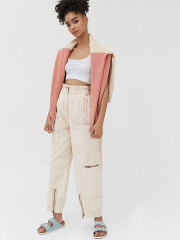 מכנסיים ארוכים עם כיסים ורוכסנים BDG