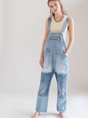 אוברול ג'ינס קולור בלוק BDG