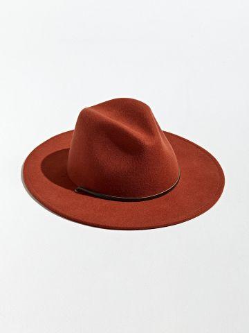 כובע צמר רחב שוליים UO / גברים