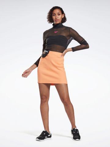 חצאית מיני עם כיס לוגו
