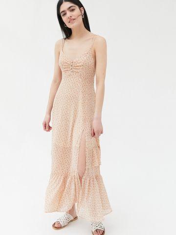 שמלת מידי שיפון עם שסע UO