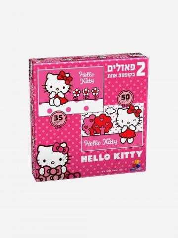 הלו קיטי- 2 פאזלים בקופסה אחת