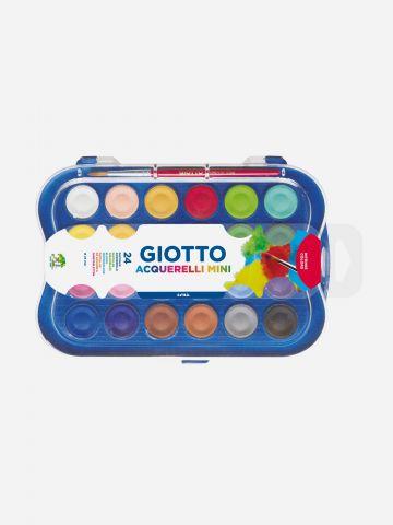 ערכת צבעי מים 24 גוונים Giotto