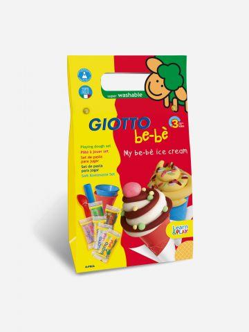 ערכת בצקים בדוגמת גלידה Giotto Be-Be