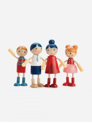 סט 4 בובות גמישות מעץ Tender Leaf Toys / +3 של TOYS