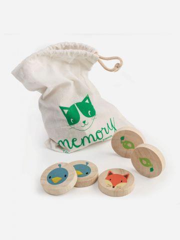משחק זיכרון מעץ בדוגמת חיות Tender leaf toys / +1.5