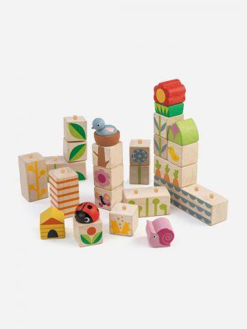 סט 24 קוביות מעץ Tender Leaf Toys / +3