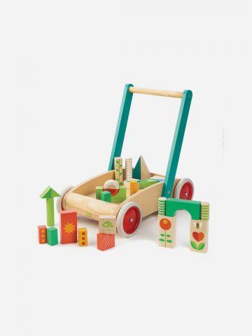 הליכון לתינוק עם 29 קוביות משחק מעץ Tender Leaf Toys / +18M