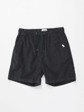 מכנסי קורדרוי קצרים עם פאץ' / בנים