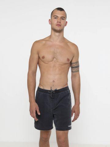 מכנסי בגד ים עם ווש ולוגו