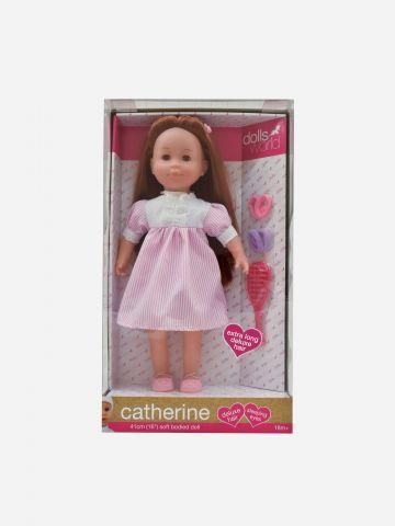 בובת תינוקת קטרין עם שיער ארוך / 18M+