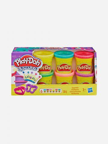 פלסטלינה play-doh אוסף נצנצים 6 יחידות / 3+ של TOYS