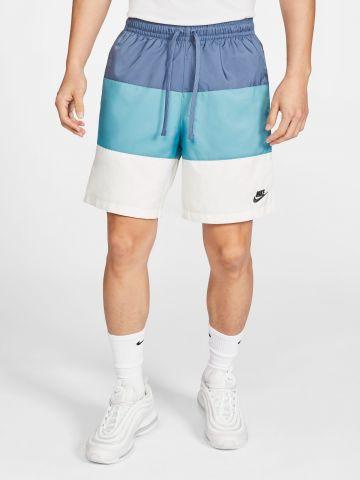מכנסי קולור בלוק קצרים