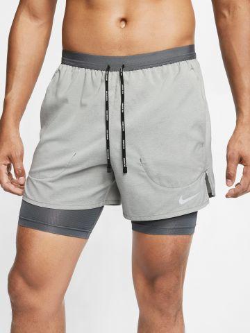 מכנסי ריצה 2 שכבות Flex Stride