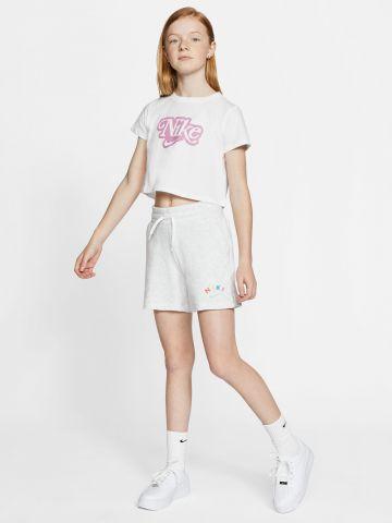 מכנסיים קצרים עם לוגו מולטי קולור