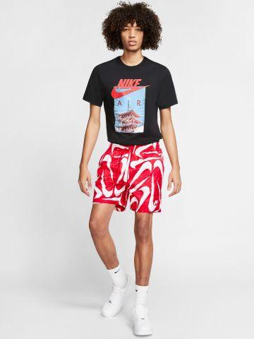 מכנסיים קצרים בהדפס לוגו