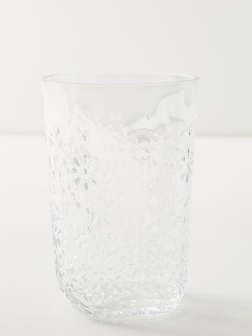 כוס זכוכית בדוגמת פרחים Vista של ANTHROPOLOGIE
