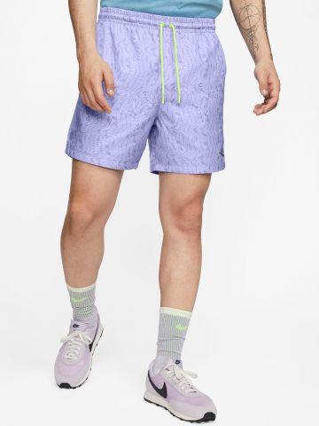 מכנסיים קצרים בהדפס לוגו אבסטרקטי של NIKE