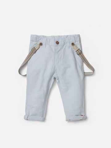 מכנסיים ארוכים עם שלייקס / 0-3Y