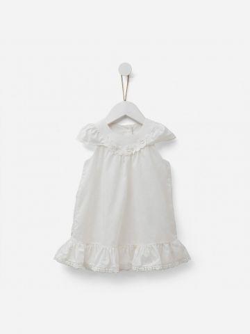 שמלת בגד גוף עם מלמלה / 0-3Y