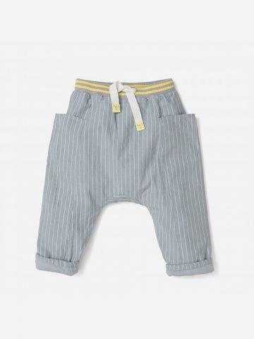 מכנסיים ארוכים בהדפס פסים / 0-24M