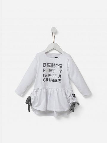 חולצת פפלום ארוכה עם שרוכי כיווץ / 2-5Y
