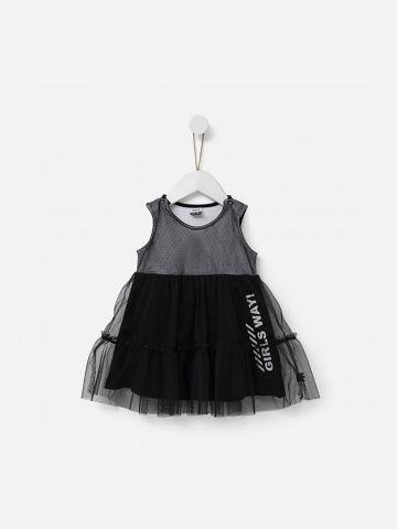 שמלת גופייה עם טול / 2-5Y