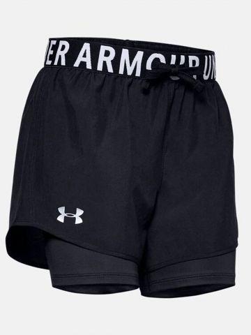 מכנסי ספורט קצרים עם טייץ פנימי / בנות של UNDER ARMOUR