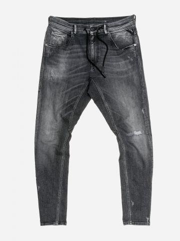 ג'ינס אסיד ווש עם שרוך