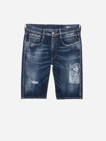 ג'ינס קצר עם קרעים / גברים של REPLAY