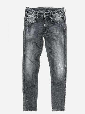 ג'ינס ארוך בשטיפה כהה עם הלבנה / גברים