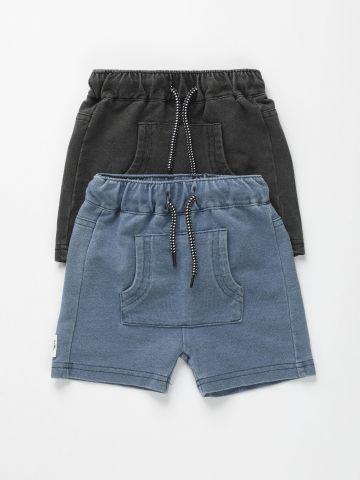 מארז 2 מכנסיים דמוי ג'ינס / 3M-3Y