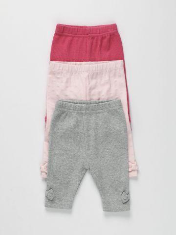 מארז 3 מכנסיים ארוכים עם פפיון / 0-2Y