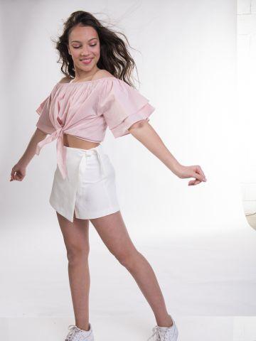 מכנסי חצאית עם קשירה / בנות של MINENE