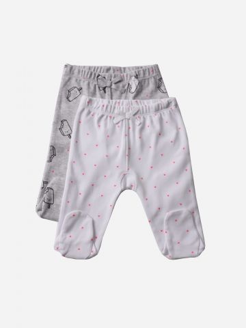מארז 2 זוגות מכנסיים עם רגליות / N.B-3Y